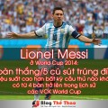 Lionel Messi world cup 2014 4 ban tren 5 cu sut trung dich