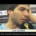 Clip: Luis Suarez bật khóc đầy cảm động khi dành chiến thắng trước Anh