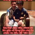 messi tang cau be chic ao dau sau tran argentina bosnia