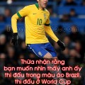 kaka brazil world cup muon duoc nhin thay anh ay thi dau trong mau ao brazil thi dau o world cup