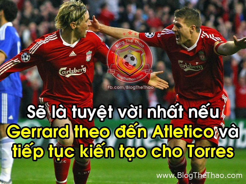 Steven Gerrard cung Fernando Torres den atletico madrid