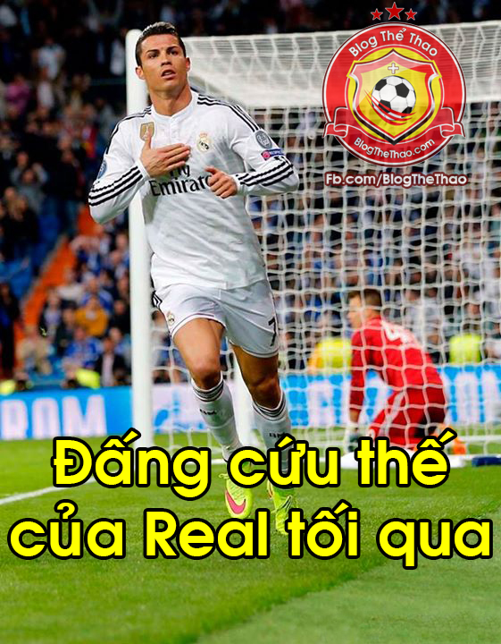 ronaldo dang cuu the cua real madrid