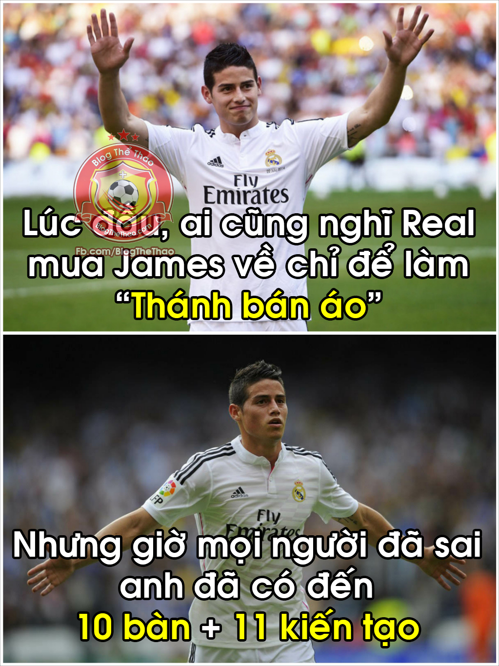 thanh tich cua james rodriguez real madrid